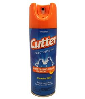 CUTTER® 6 Oz UNSCENTED INSECT REPELLENT AEROSOL 10% DEET- 12/CS  (51020)