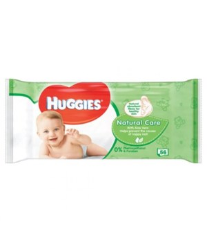 HUGGIES® WIPES NATURAL 56'S - 10/CS