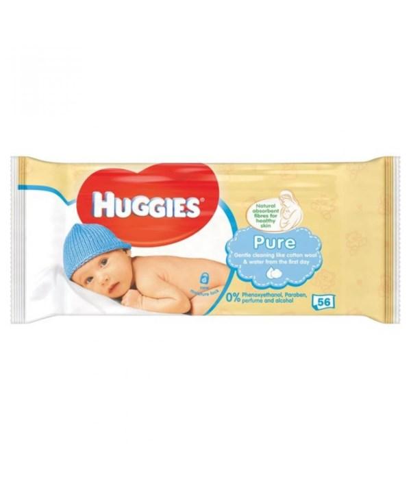 HUGGIES® WIPES BABY PURE 56'S - 10/CS