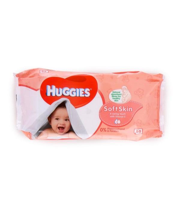 HUGGIES® WIPES SOFT SKIN 56'S - 10/CS