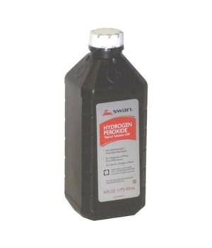 SWAN® HYDROGEN PEROXIDE 3% - 16oz - 12/CS
