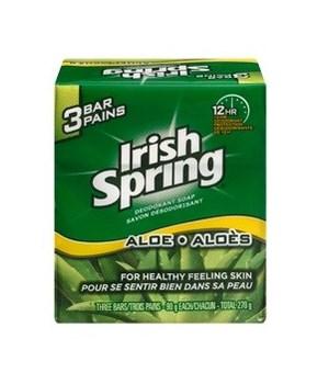 IRISH SPRING® BAR SOAP 90gr -  ALOE 3PK - 24/CS (320176)