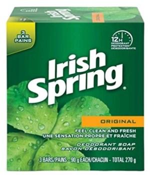 IRISH SPRING® BAR SOAP 90gr -  ORIGINAL 3PK - 24/CS (320175)