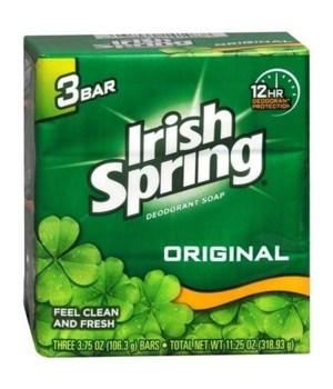 IRISH SPRING® BAR SOAP 3.75 OZ -  ORIGINAL 3PK - 18/CS (14177)