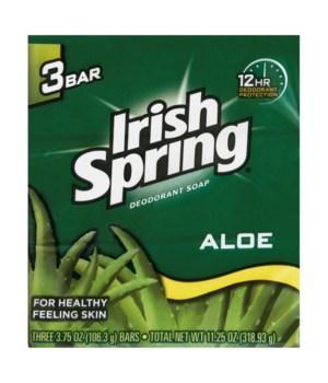 IRISH SPRING® BAR SOAP 3.75 OZ -  ALOE VERA 3PK - 18/CS  (14178)