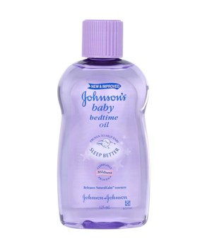 J &J� BABY OIL 125 ML - BEDTIME - 12/CS