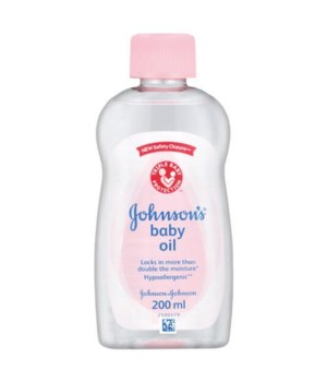 J &J� BABY OIL 200 ML- REGULAR- 12/UNIT