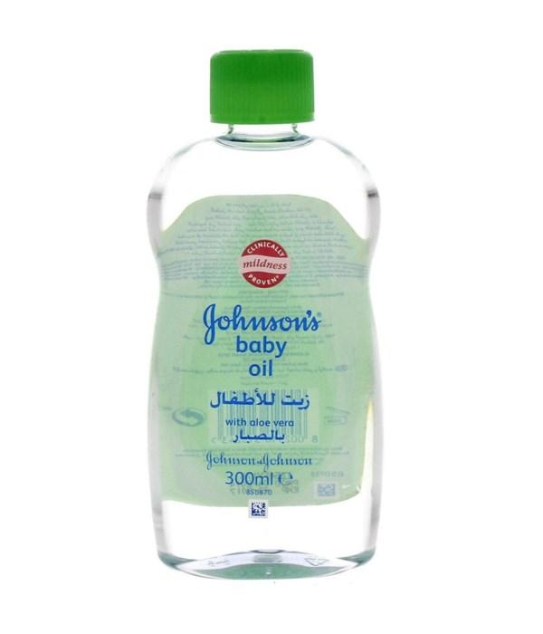 J &J® BABY OIL 300 ML- ALOE- 12/UNIT