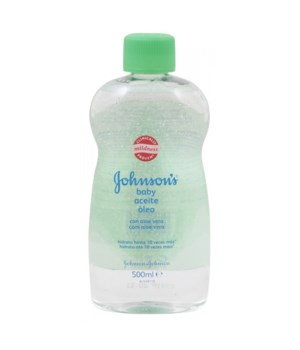 J &J® BABY OIL 500 ML - ALOE- 12/CS