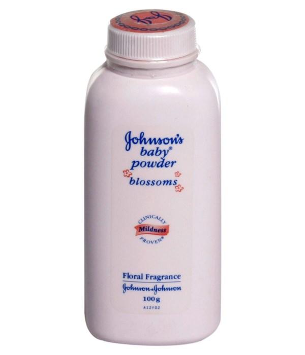 J &J® BABY POWDER 100 GR - PINK BLOSSOM - 12/UNIT (101514)