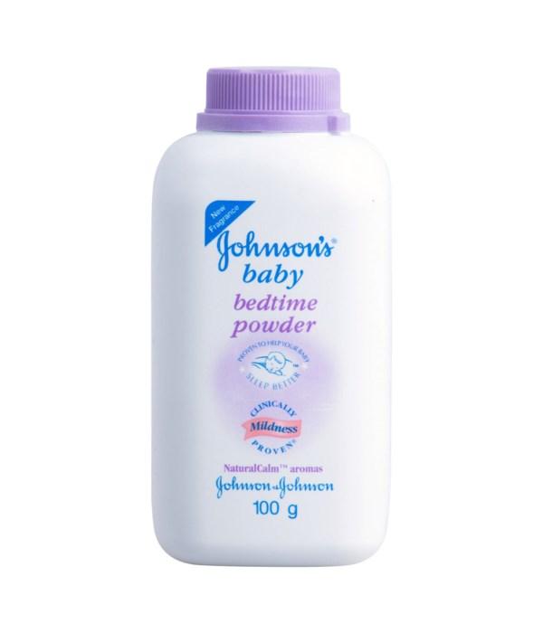 J &J® BABY POWDER 100gr - PURPLE BEDTIME- 12/UNIT ( 1022818)