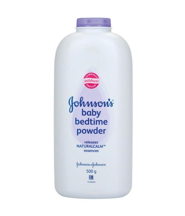 J &J® BABY POWDER 500gr - BEDTIME - 12/UNIT
