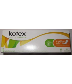 KOTEX® LIGHTDAYS REGULAR UNSCENTED 18'S /22 CT...1301