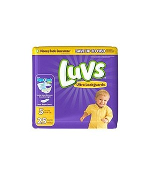 LUVS® ULTRA LEAK GUARDS DIAPERS - SIZE #5 - 4/25PK