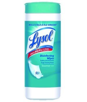 LYSOL® DISINFECTING WIPES 35CT - SPRING WATERFALL- 12/CS
