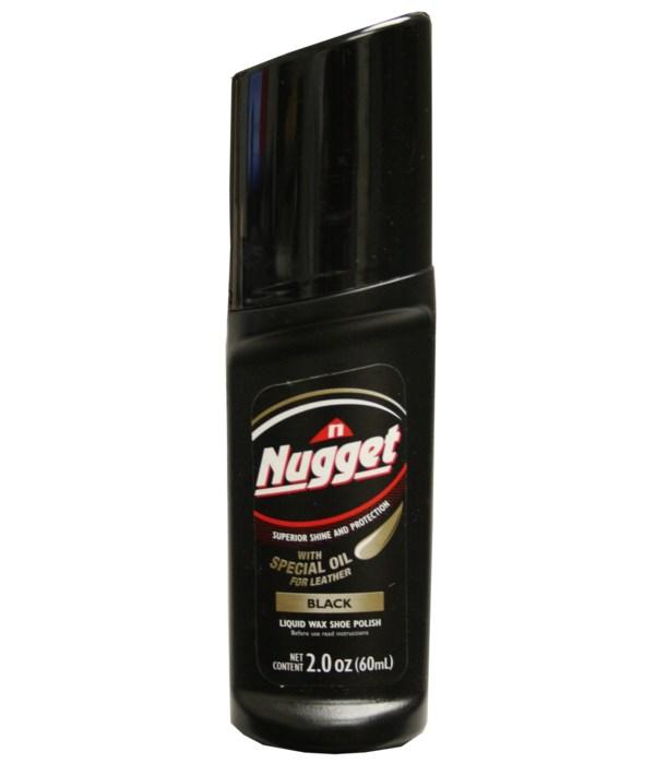 NUGGET® LIQUID SHOE POLISH- BLACK 12/CS