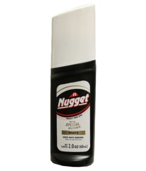 NUGGET® LIQUID SHOE POLISH-WHITE 12/CS