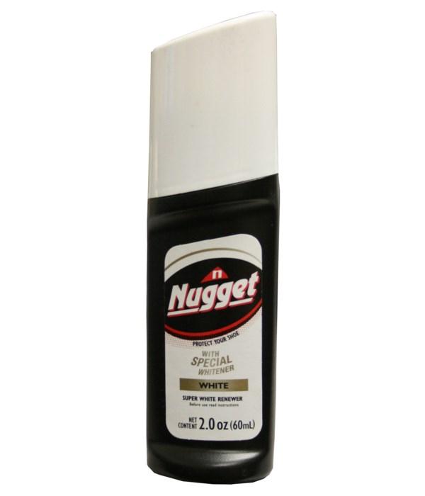 NUGGET® LIQUID SHOE POLISH-WHITE 12/CS