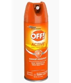 OFF!® AEROSOL INSECT REPELLENT SPRAY 170g - (TROPICAL FRESH) ORANGE- 12/CS