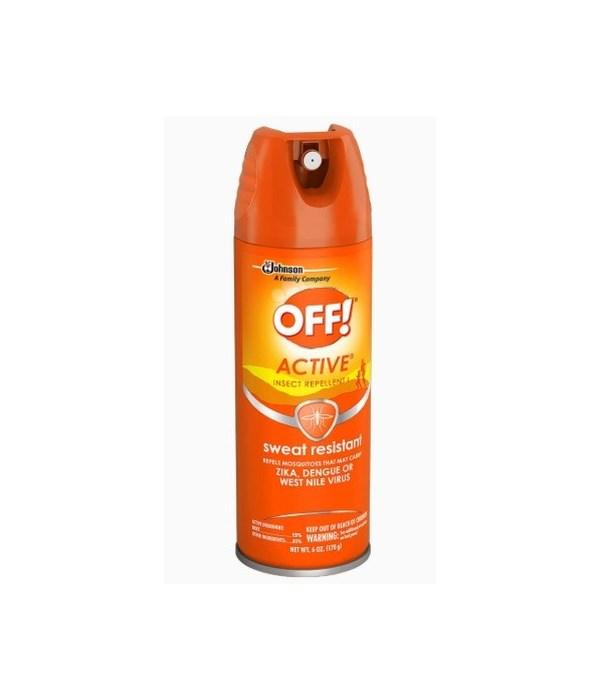 OFF!® AEROSOL INSECT REPELLENT SPRAY 170g - (TROPICAL FRESH) ORANGE- 12/CS