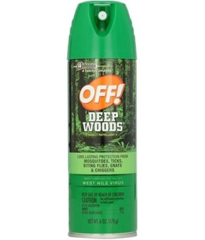 OFF!® DEEP AEROSOL INSECT REPELLENT SPRAY 170g - GREEN- 12/CS