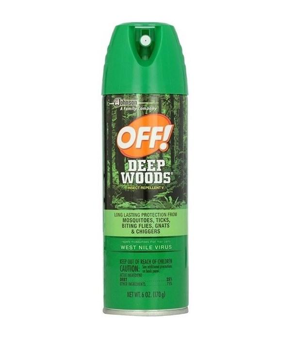 OFF!® DEEP AEROSOL INSECT REPELLENT SPRAY 170g - GREEN- 12/CS