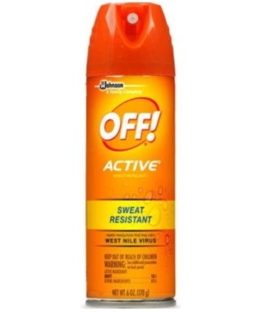 OFF!® ACTIVE AEROSOL INSECT REPELLANT 6 OZ- 12/CS