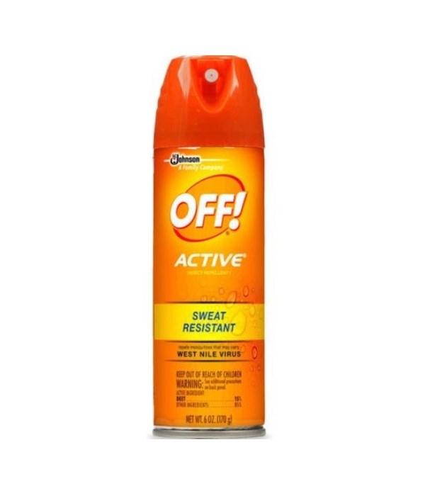 OFF!® ACTIVE AEROSOL INSECT REPELLANT 6 OZ- 12/CS