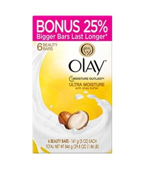 OLAY- BAR SOAP 5oz- ULTRA MOISTURE- 8 X 6PK