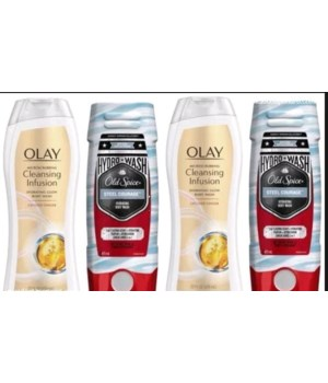 OLD SPICE/OLAY BODY WASH MIX -173 PIECE DISPLAY