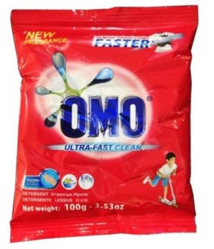 OMO® STD- DETERGENT POWDER 100G- 140/CS ( ITEM# 67085110 )