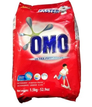 OMO® STD- DETERGENT POWDER 1.5 KG(52.9oz)- 9/CS