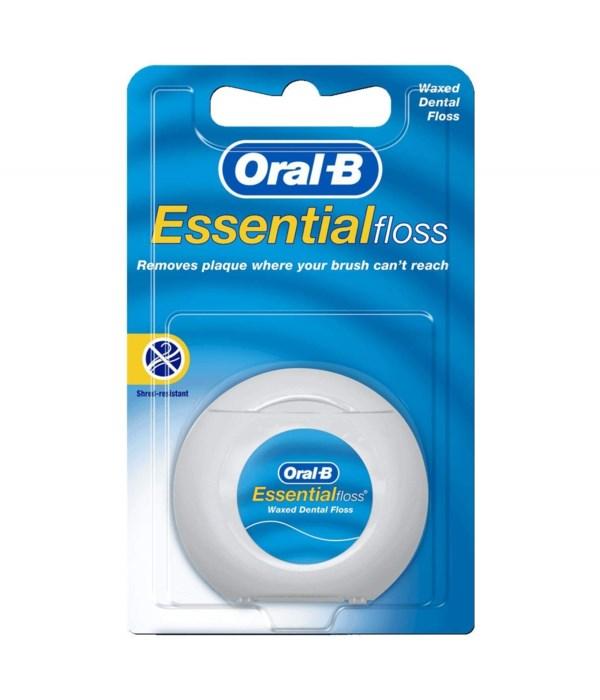 ORAL B ESSENTIAL FLOSS - 55 YARDS - REGULAR - 24/CS