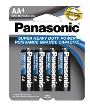 PANASONIC® BATTERY AA-4 H.D - (073096500235)