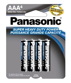 PANASONIC® BATTERY AAA-4 H.D