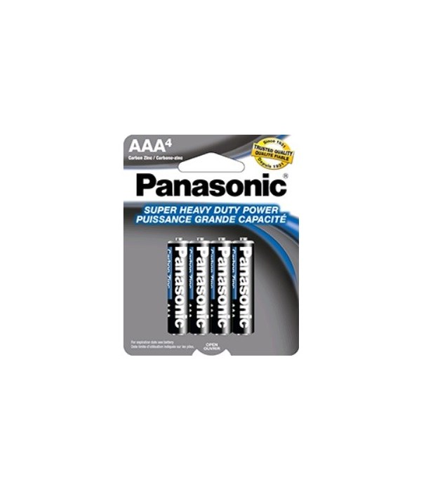 PANASONIC® BATTERY AAA-4 H.D