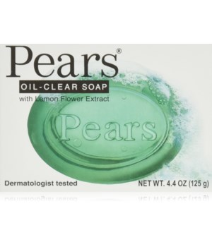 PEARS® BAR SOAP 4.4oz (125 GR ) - OIL CLEAR (GREEN)- 48/CS