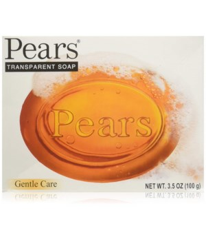 PEARS® BAR SOAP 3.5oz (100 GR) - ORIGINAL- PURE & GENTLE (AMBER)- 48/CS