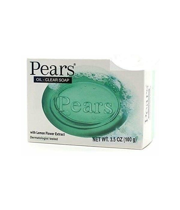 PEARS® BAR SOAP 3.5oz (100 GR) - OIL CLEAR GREEN - 48/CS