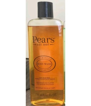 PEARS® BODY WASH 8.41oz (250 ML) - ORIGINAL ( PURE & GENTLE- PLANT OILS) - 12/CS