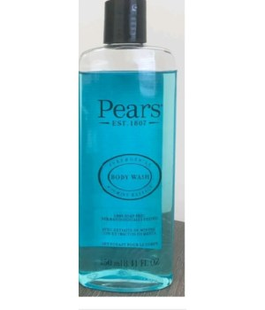 PEARS® BODY WASH 8.41oz (250 ML) - BLUE ( PURE & GENTLE - MINT EXTRACT ) - 12/CS