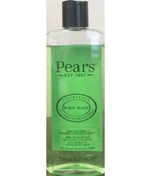 PEARS® BODY WASH 8.41oz (250 ML) - GREEN ( PURE & GENTLE - LEMON FLOWER EXTRACT ) - 12/CS
