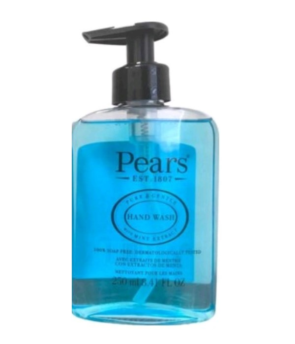 PEARS® HAND WASH 8.41oz (250 ML) - BLUE ( PURE & GENTLE - MINT EXTRACT ) - 12/CS
