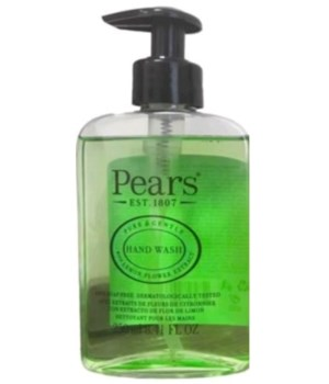 PEARS® HAND WASH 8.41oz (250 ML) - GREEN ( PURE & GENTLE - LEMON FLOWER EXTRACT ) - 12/CS