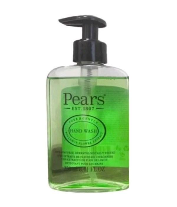 PEARS® HAND WASH 8.41oz (250 ML) - GREEN ( PURE & GENTLE - LEMON FLOWER EXTRACT ) - 12/CS