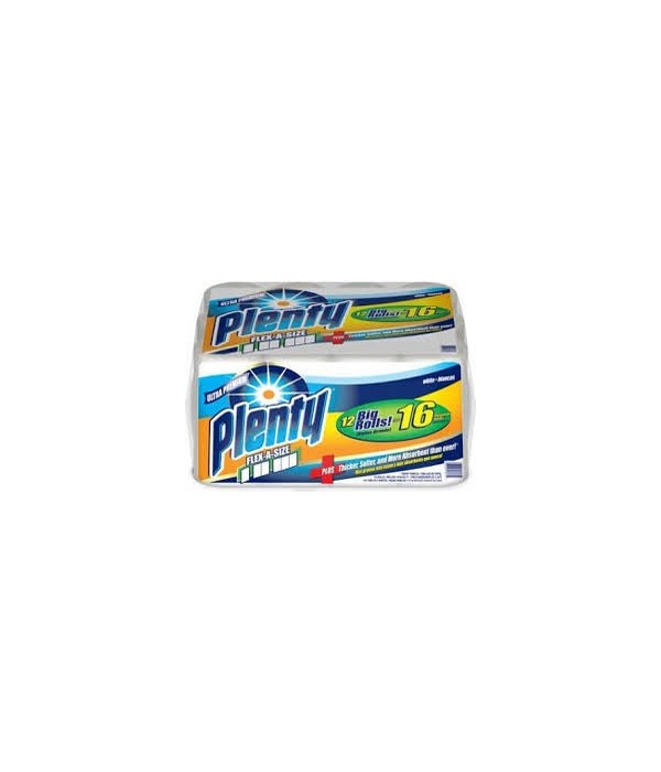PLENTY� PAPER TOWEL 112 SHEETS- 12 PACK