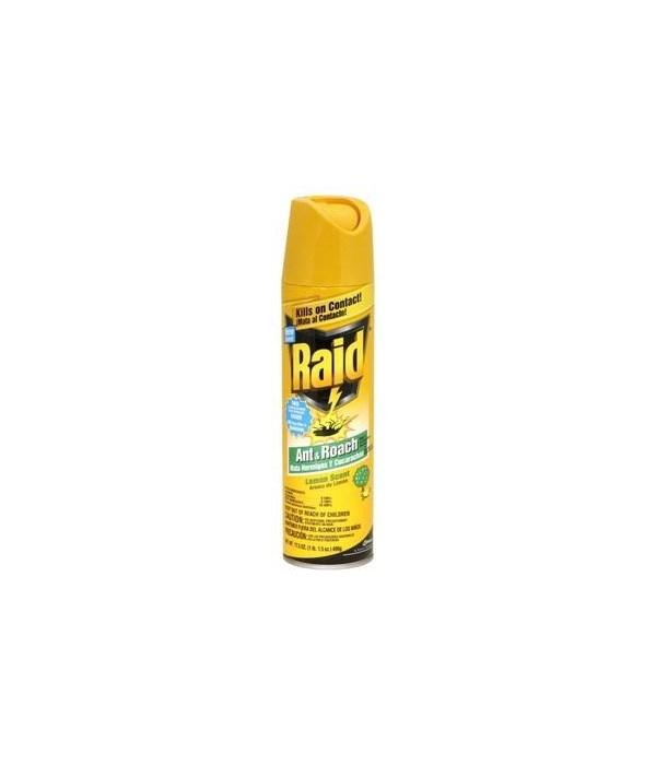 RAID® ANT & ROACH KILLER 12/17.5 oz-LEMON(016479)