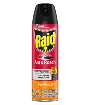 RAID® ANT & ROACH KILLER 12/17.5 oz-ORANGE BREEZE (77533)