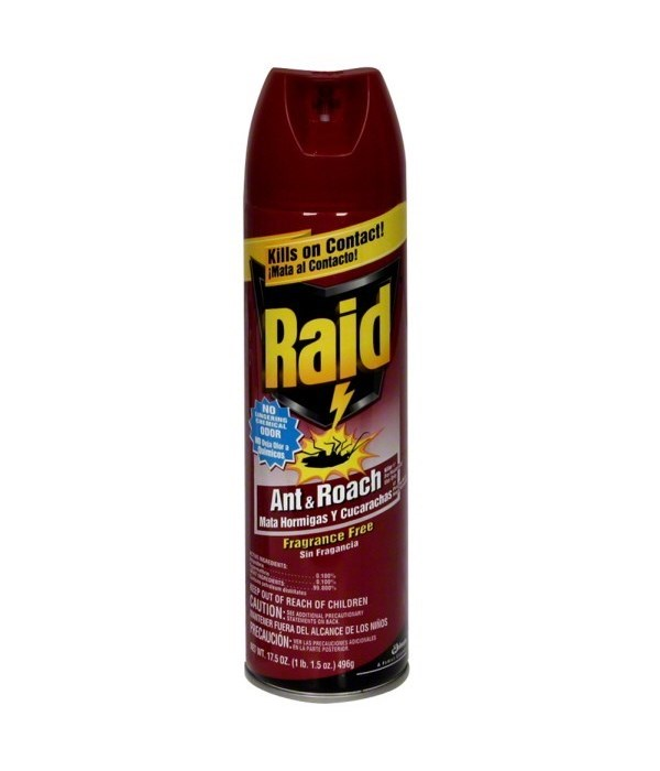 RAID® ANT & ROACH KILLER 2PK X 6/17.5 oz- FRAG FREE
