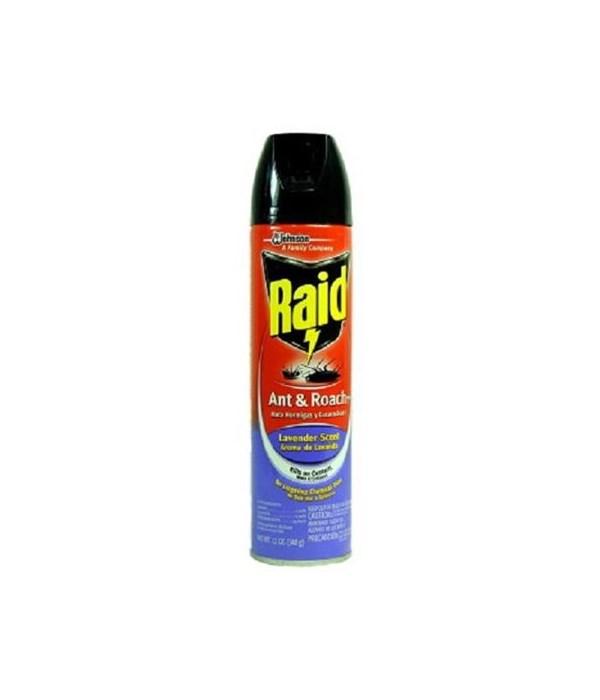 RAID® ANT & ROACH KILLER 12/12oz- LAVENDER (73964)
